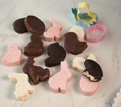 Chocolate Coated Easter Marshmallows