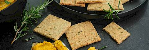 Rosemary & Seed Crackers