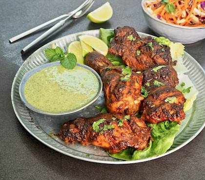 Tandoori Chicken with Indian Green Chutney