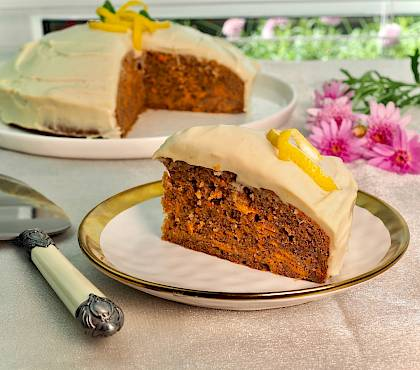 Carrot Cake with Lemon Cashew Cream